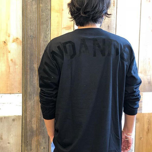 WIND AND SEA  L/S TEE   Black/Black