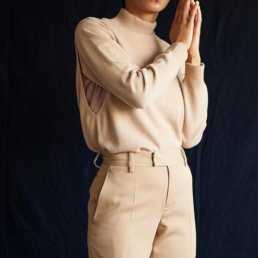 jonnlynx   cashmere overlap pullover