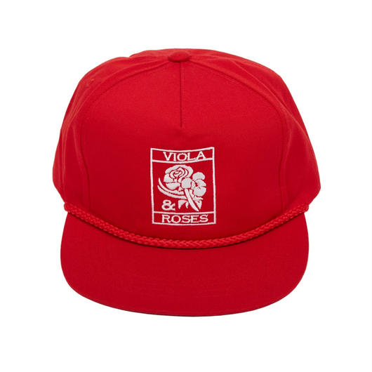 VIOLA&ROSES  CAP   No.002 RED