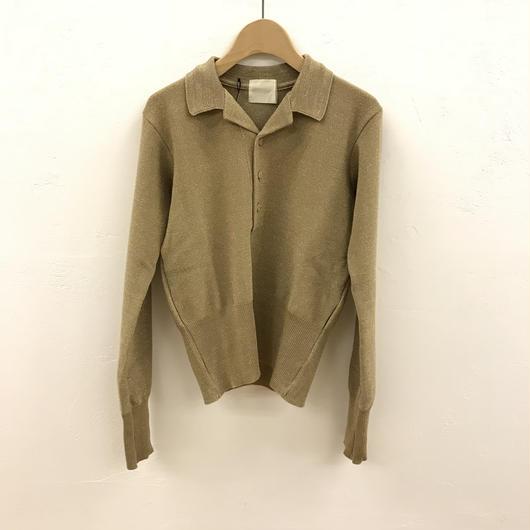 JUN MIKAMI ラメ鹿の子  ポロシャツ