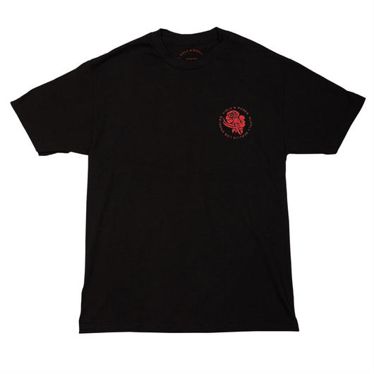 VIOLA&ROSES  T-SHIRTS  No.002 BLACK
