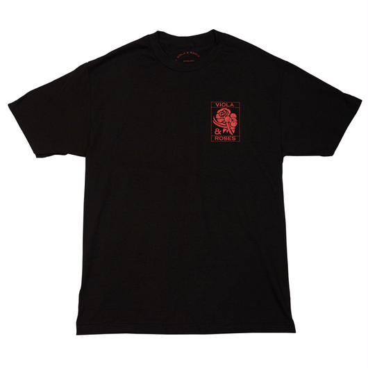 VIOLA&ROSES  T-SHIRTS   No.001 BLACK