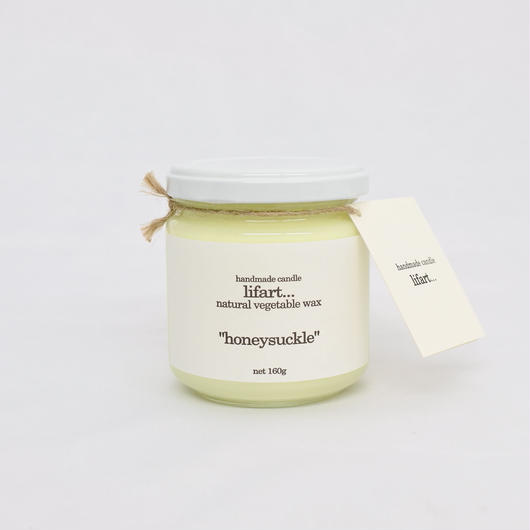 "fragrance candle ""honeysuckle"""