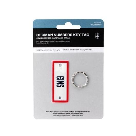 "CANDY DESIGN&WORKS ""German Numbers Key Tag"""