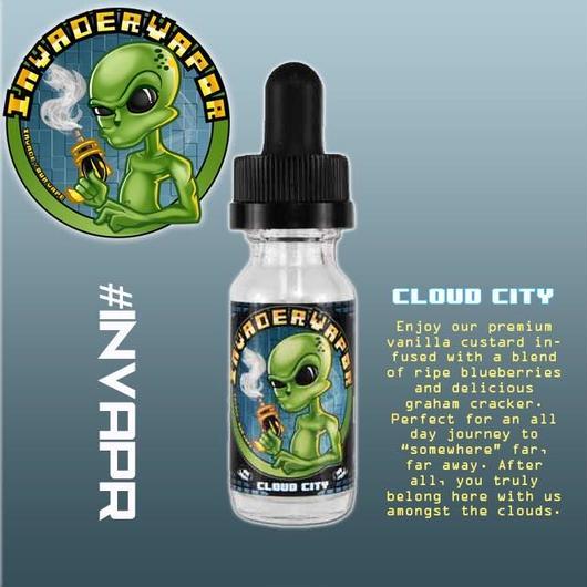 【InvaderVapor】 インベーダーベーパ      クラウドシティ    (Cloud City)  15ml   【プレミアムE-リキッド】