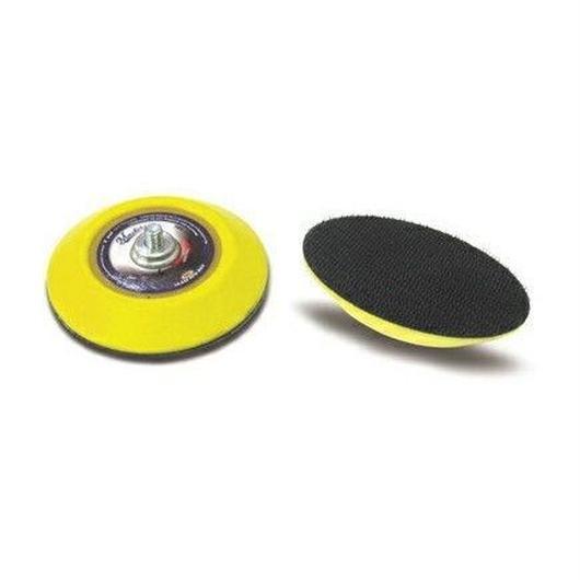 ベルクロ(マジック式)タイプの研磨材やスポンジパッドを取り付けるための3inchパッドです。クッション性もあります。マスターエアーツール消耗品ベルクロベースクッションパッド 3インチMSA-50132