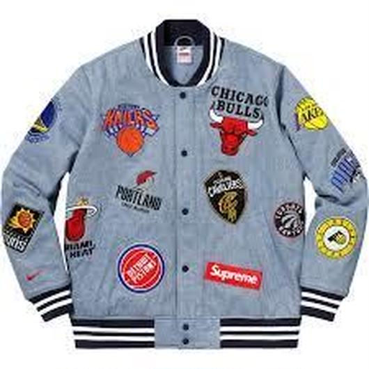 18ss supreme  NIKE NBA denim jacket