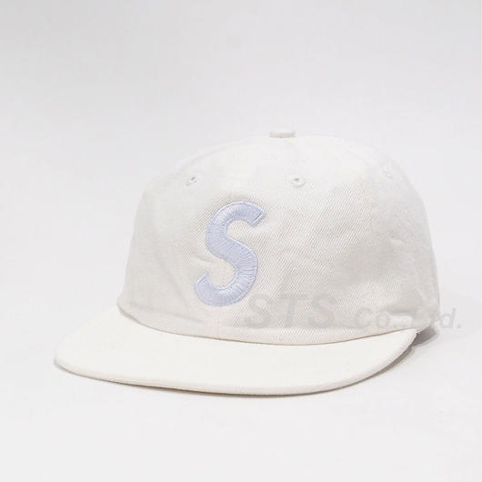 supreme  S logo cap denim 17ss