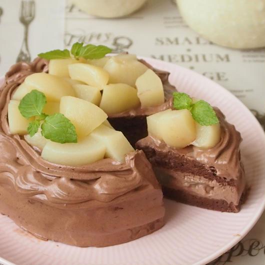4号【グルテンフリー】季節のフルーツたっぷりチョコケーキ
