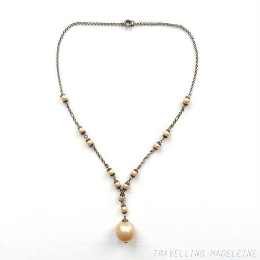 ビッグパール チェーン ネックレス Big Pearl Chain Necklace(Sp18-45N)