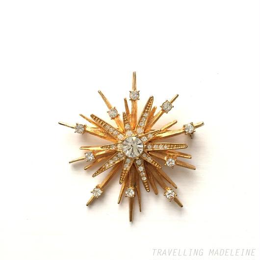 Avon エイヴォン  ゴールドスター ブローチ Avon Gold Star Brooch (Su17-132B)