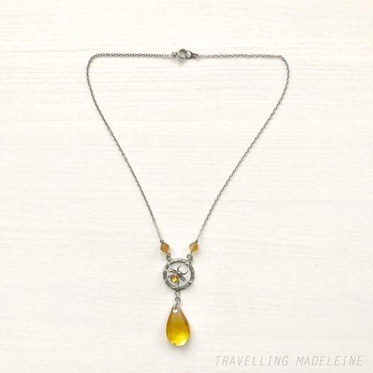 WARD BROTHERS Silver Spider & Orange Glass Necklace シルバー & オレンジグラス スパイダー ネックレス(W18-220 N)
