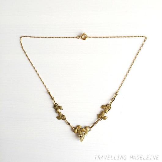 小粒パール 葡萄 ネックレス Seed Pearl Grape Necklace (Sp18-9N)