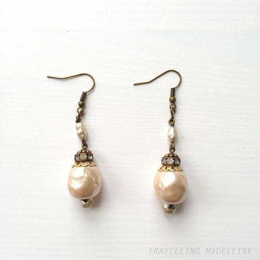 バロックパール ピアス Baroque Pearl Piarced Earrings (Su18-4E)