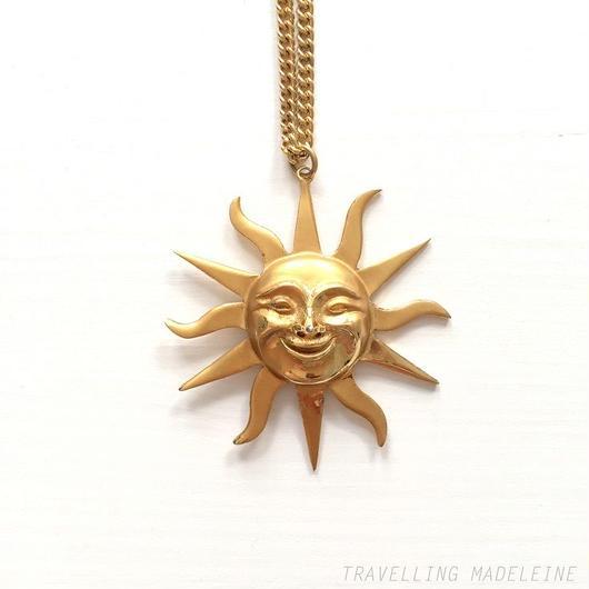 Alva Museum ゴールド お日さま ネックレス Gold Sun Face Necklace (Su18-164N)