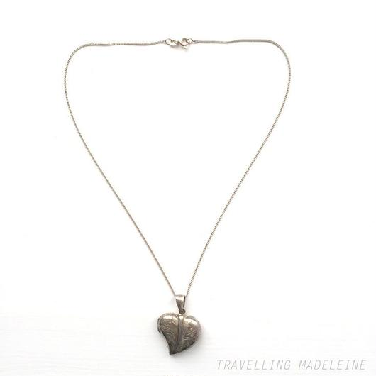 シルバー ハート ロケット ペンダント ネックレス Silver Heart Locket Pendant Necklace(W18-29N)
