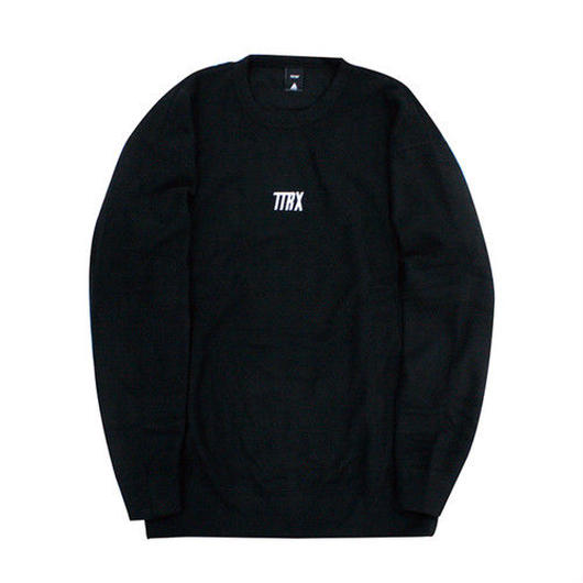 [TREKKIE TRAX × THE TEST] Fleece Crewneck Tops (Black)