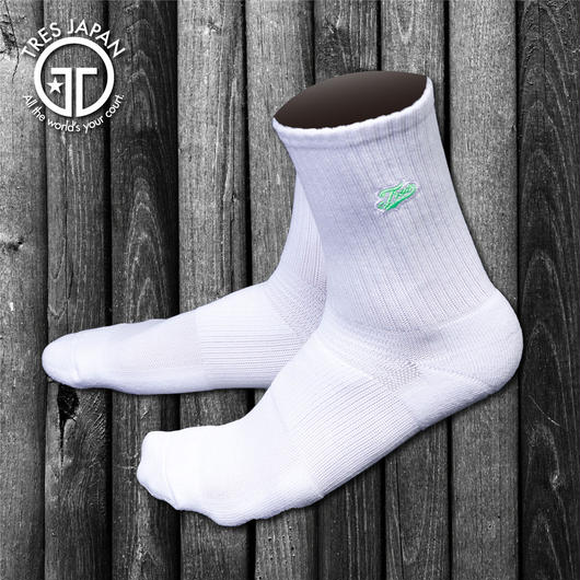 【TMC】BASKET SOCKS  Surf Logo(White/Fgreen)