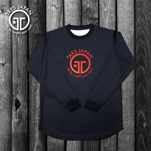 【TRESJAPAN】HeiQ ビックロゴ ロングTシャツ(ブラック)