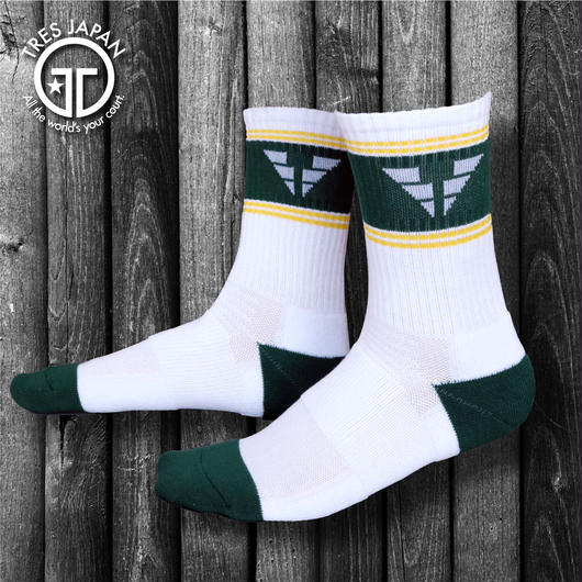 【TRESJAPAN】BASKET SOCKS  WING T(グリーン)