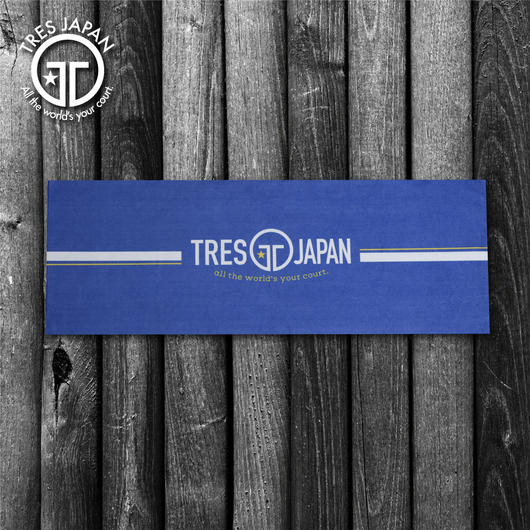 NEW【TRESJAPAN】マイクロファイバータオル(ラインブルー)