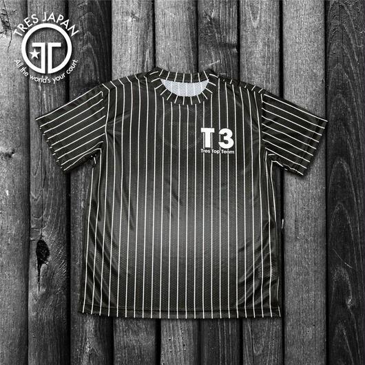 【TRESJAPAN】スパンデックスTシャツ(ブラックピンストライプ)
