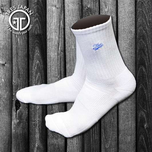 【TMC】BASKET SOCKS  Surf Logo(White/Sax)
