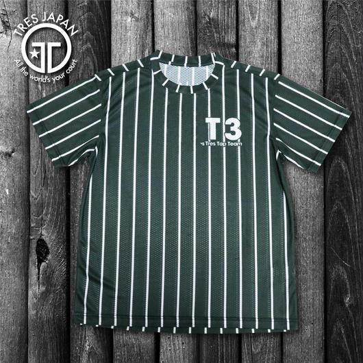 【TRESJAPAN】スパンデックスTシャツ(チャコールピンストライプ)