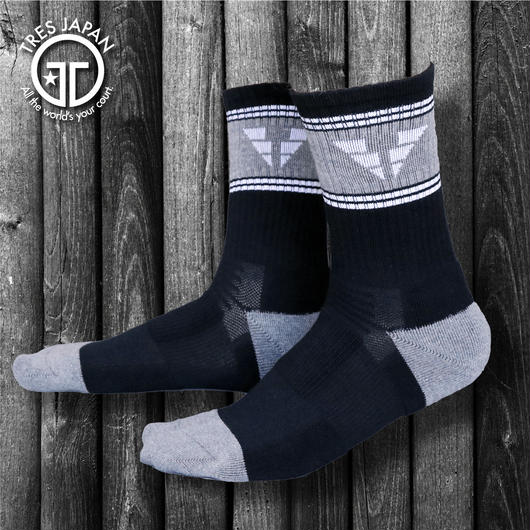 【TRESJAPAN】BASKET SOCKS  WING T(ブラック)