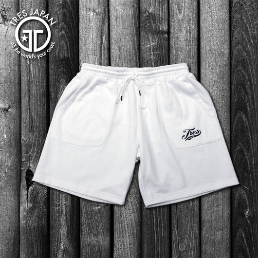 【TMC】SWEAT LOGO SHORTS(White)