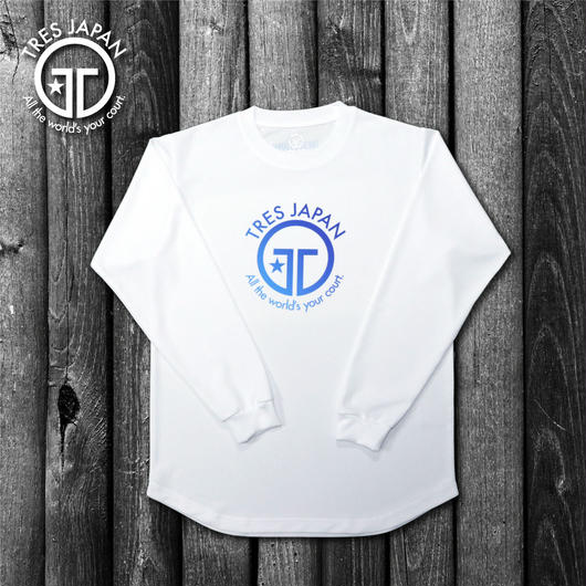 【TRESJAPAN】HeiQ ビックロゴ ロングTシャツ(ホワイト)