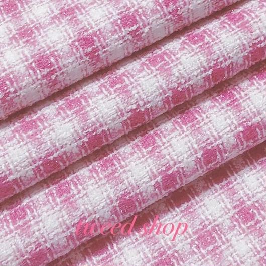 ツイード生地 389 ピンク