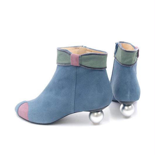 ギフトショートブーツ ブルー×ピンク**22.5cmのみ**