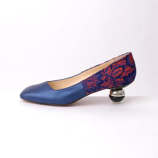 ちゃけちょけ toy heel パンプス ブルー