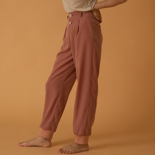 vintage satijn relax pants(PINK)