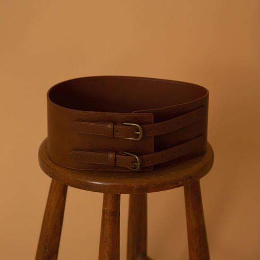 leather sash belt(BROWN)