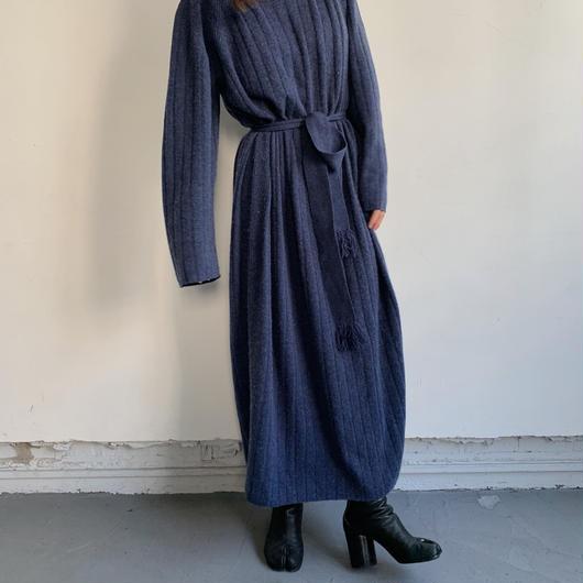 calme ×Miske CASHMERE WIDE RIB STICH DRESS