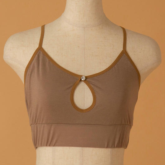 back cross bra top(CAMEL)