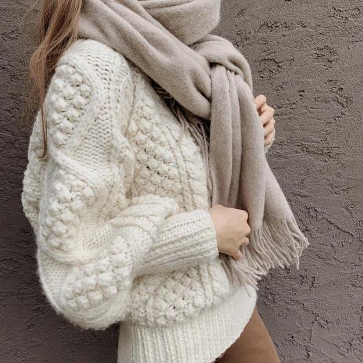 calme wool stole / beige