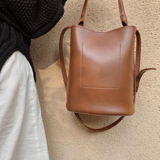 bucket  bag (brown)