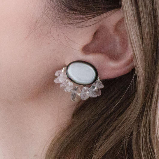 EYE EARRING CRISTAL