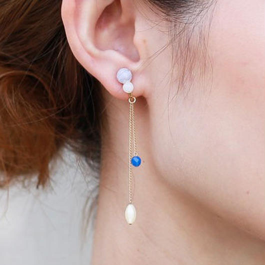 NEW MIE EARRING BLUE ニューミーイヤリングブルー
