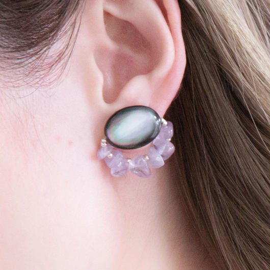 EYE EARRING PURPLE