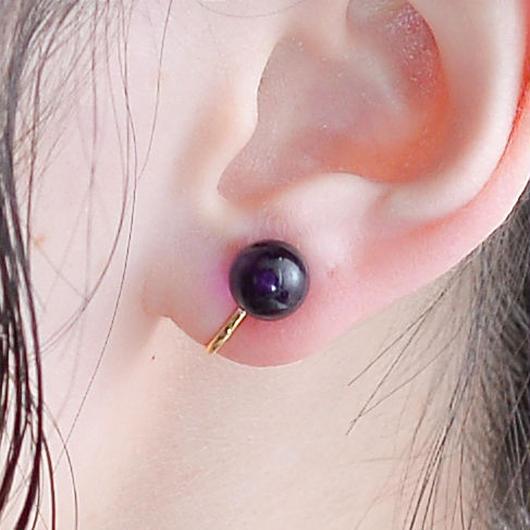 Maru Earring PUEPLE マルイヤリング パープル