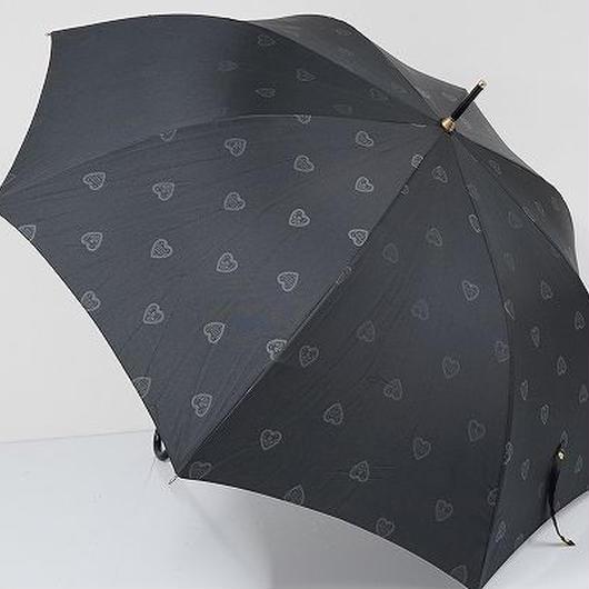 A0547 GIVENCHY ジバンシイ 耐風傘 USED超美品 ハートドット モノグラム 60cm 中古 ブランド