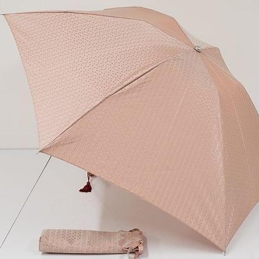 FS2163 TOPKAPI トプカピ 高級折傘 USED美品 カチオンジャガード ピンク 日本製 55㎝ 折りたたみ傘 中古ブランド