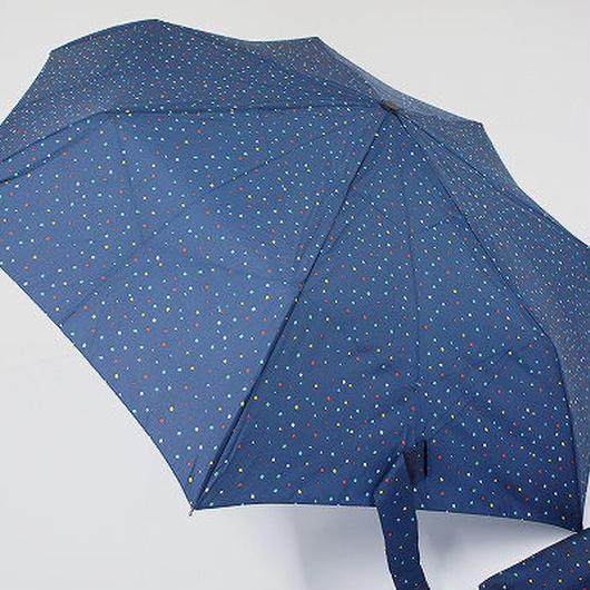 FA1509 HUS 自動開閉式折りたたみ傘 USED美品 ペイントミニドット 54cm 男女兼用 中古 ブランド