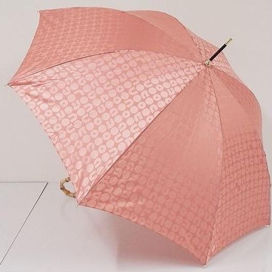 A6315 AfternoonTea アフタヌーンティ 傘 USED超美品 ロゴジャガード ピンク 55cm 中古ブランド