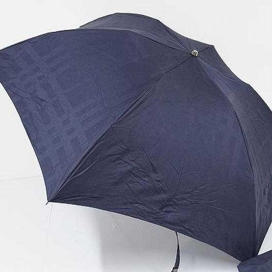 FS1729 BURBERRY バーバリー 紳士折りたたみ傘 USED超美品 ジャガードチェック 60cm 中古 ブランド