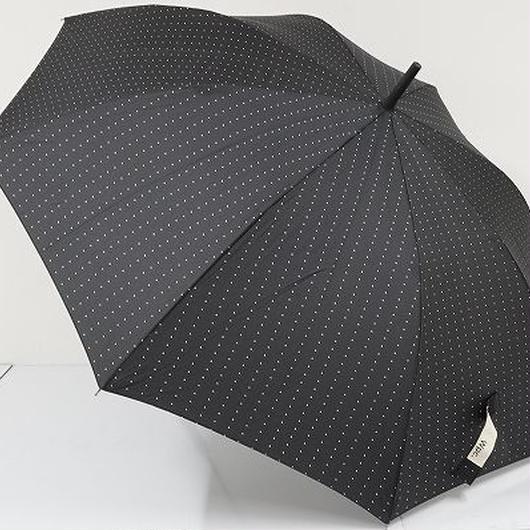 A6275 w.p.c ワールドパーティー 傘 USED超美品 ピンドット ラバー 男女兼用 大判65㎝ 中古ブランド